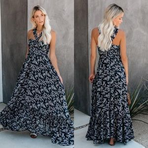 Vici | Otter Bay Floral Ruffle Maxi Dress